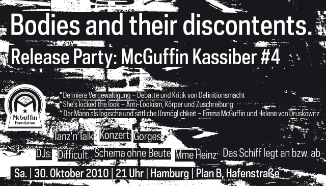 Flyer McGuffin Releaseparty 30.10.10